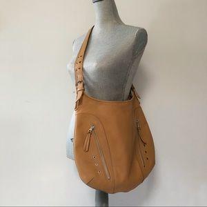 Longchamp x Kate Moss Ladbroke caramel leather bag